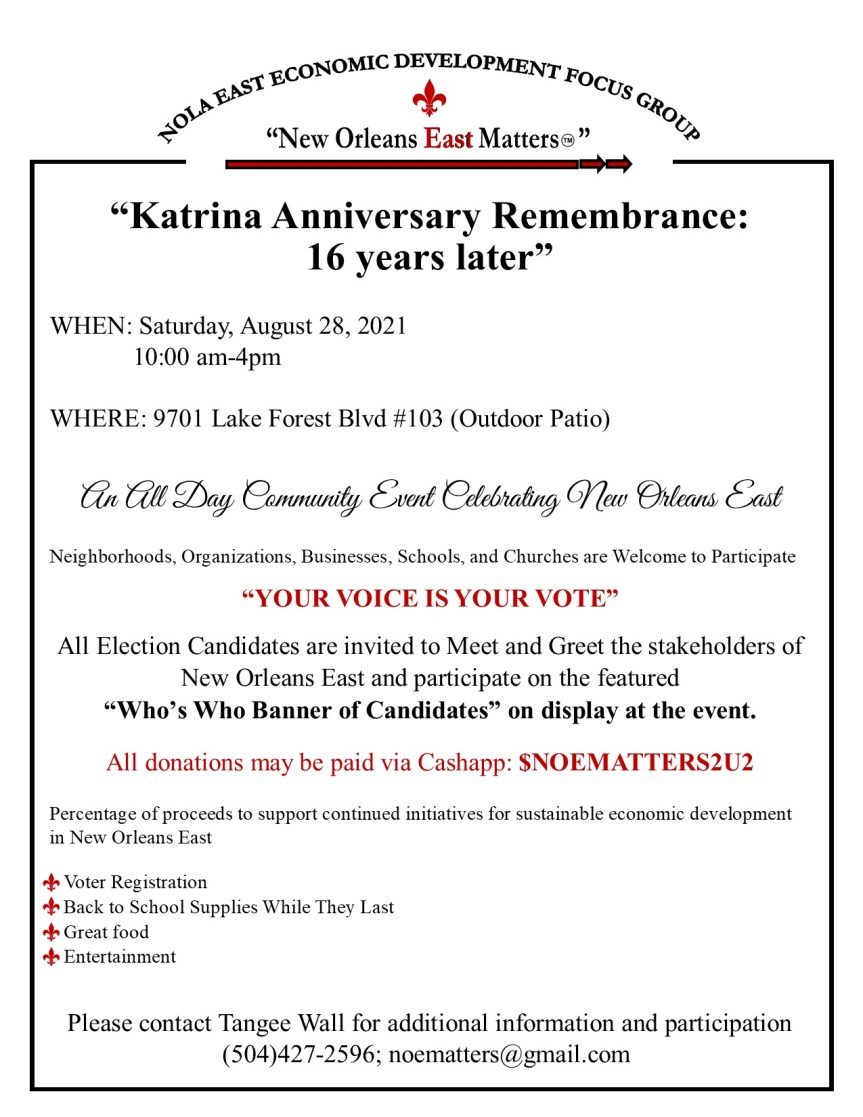 Katrina Remembrance Anniversay