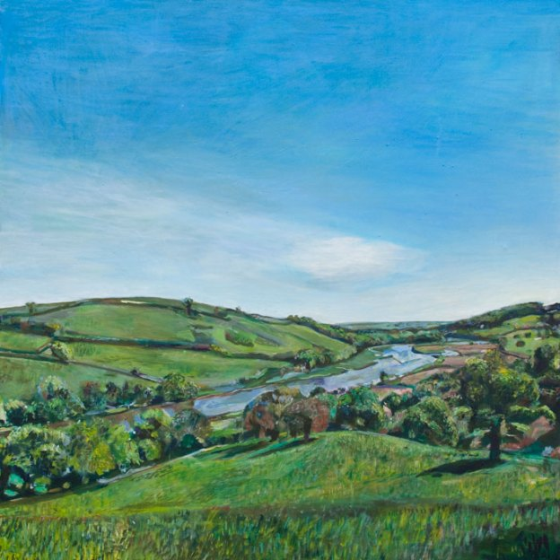 Oil Painting of the Dart River by Noel Hefele