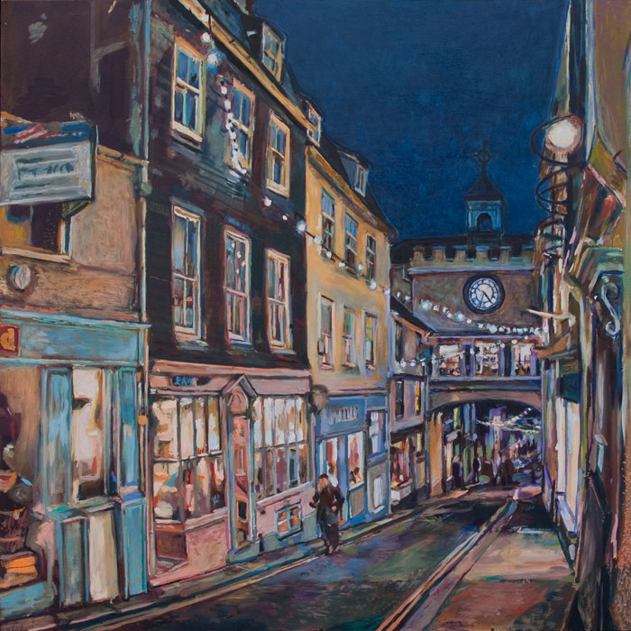Oil Painting of the Totnes East Gate by Noel Hefele