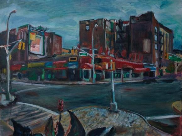Painting of Parkside and Ocean by Noel Hefele
