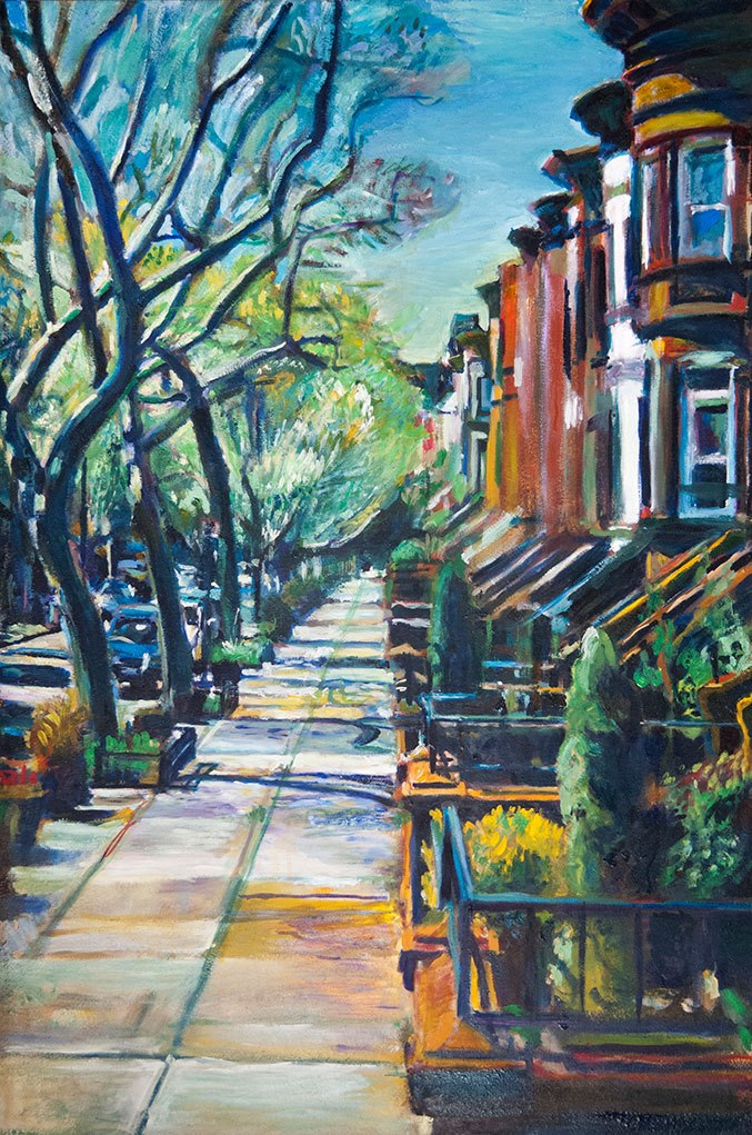 Painting of Rutland Road by Noel Hefele