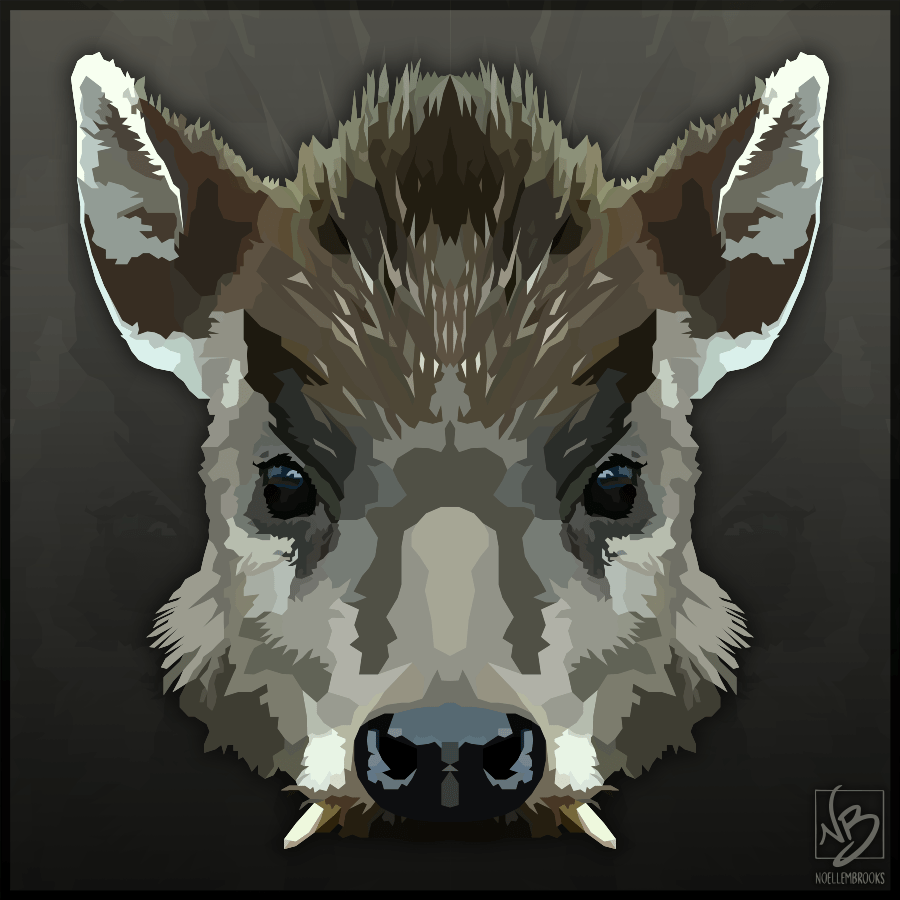 tufted deer, deer, fanged deer, tusk, tusks, frog, everett's flying frog, flying frog, amphibian, lion, African lion, big cat, digital, digital media, graphic, graphic design, vector, adobe illustrator, illustrator, animal, animals, wildlife, nature, realism, realistic, geometric, minimal, minimalistic, simple, simplistic, noellembrooks, noelle m brooks, noelle brooks, art, series, illustration, illustrations, portrait, portraits, portraiture, face, faces, close-up, close-ups, closeup, closeups, picture, pictures