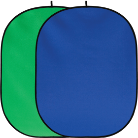 Fotodiox 5x7 inch Collapsible Chromakey Green+Blue 2-in-1 Background Panel