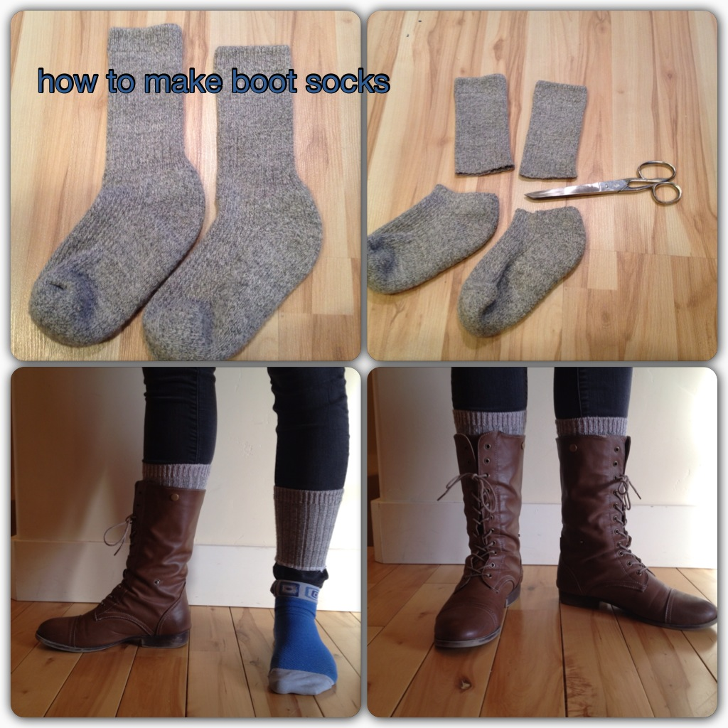 Tricky Tip For Making Faux Boot Socks Noelle O Designs