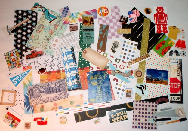 boyish scrapbook papers