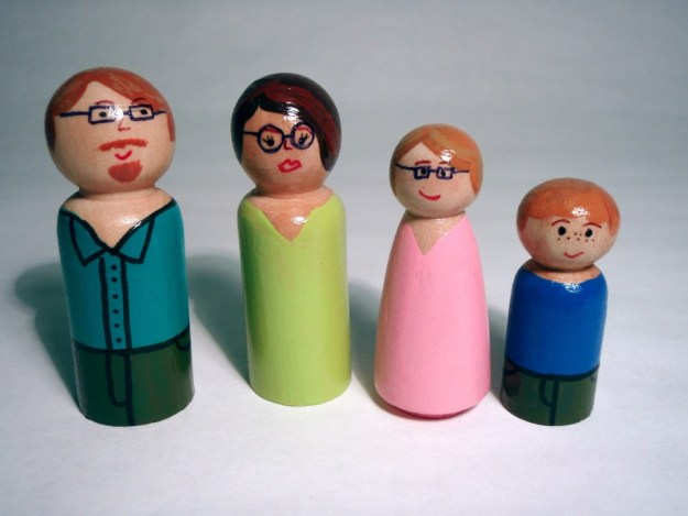 wooden people family