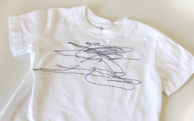 scribble sewing shirt