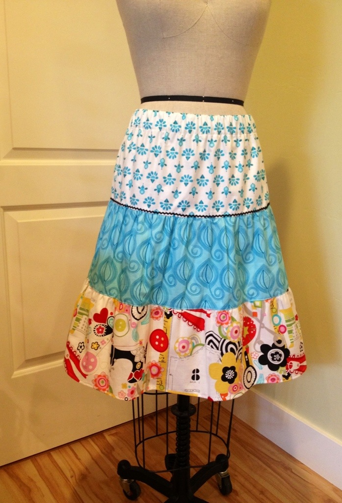 Tutorial On 3 Tiered Skirts Making NoelleODesigns