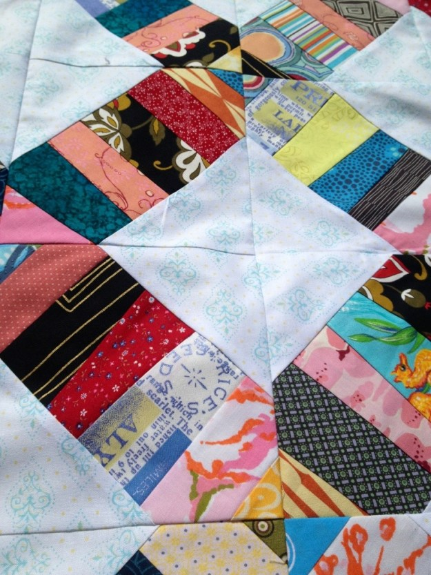 close up squares, scrap quilting ideas