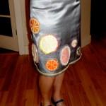 felt citrus silver skirt