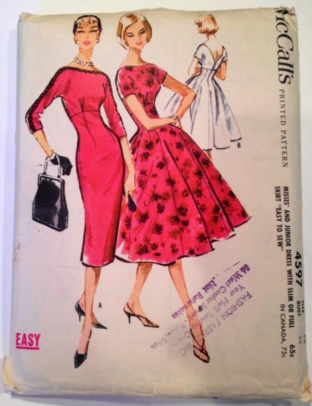 1958 McCalls dress pattern