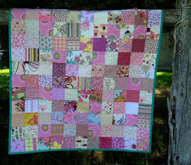 patchwork crib quilt