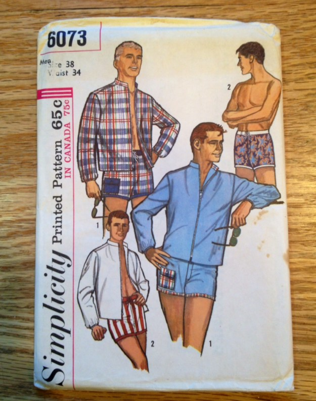 1965 mens bathing suit pattern