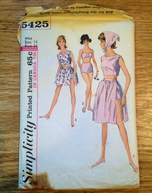 bathing suit pattern 1963