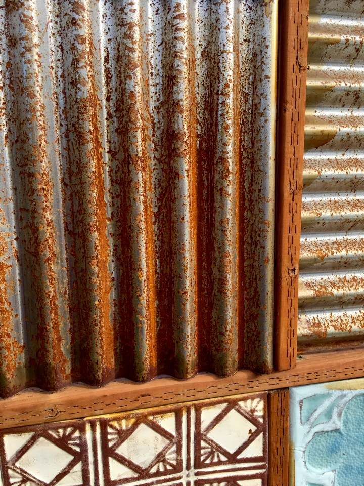corrugated metal fence