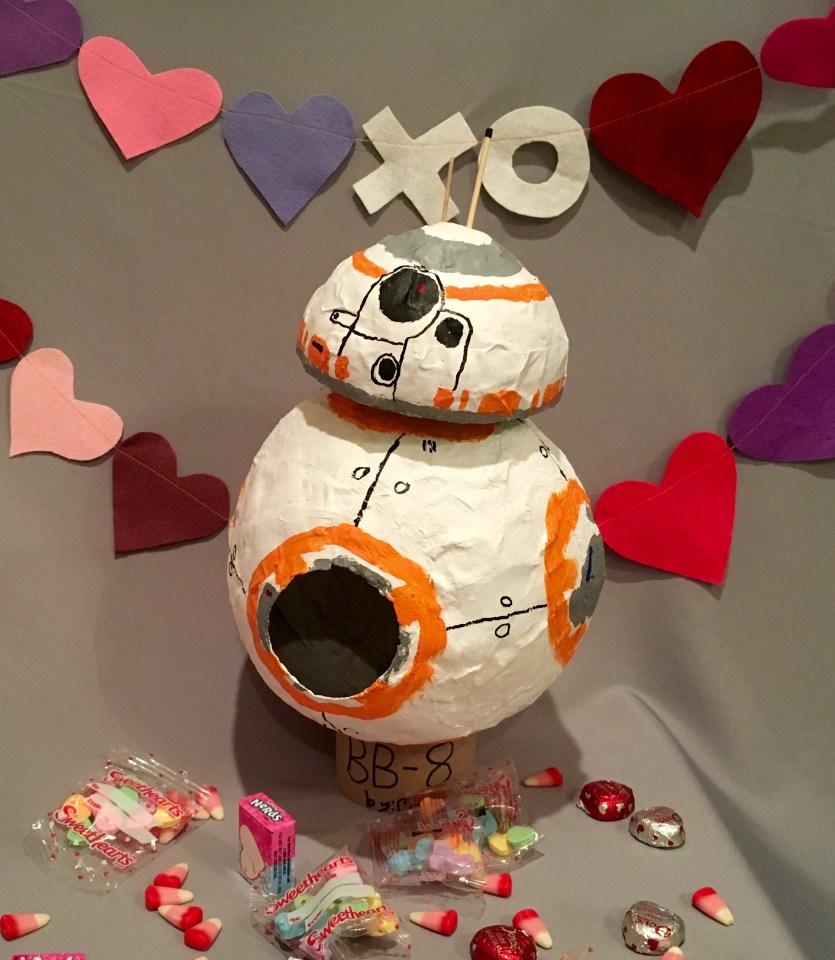 BB8 robot valentine box