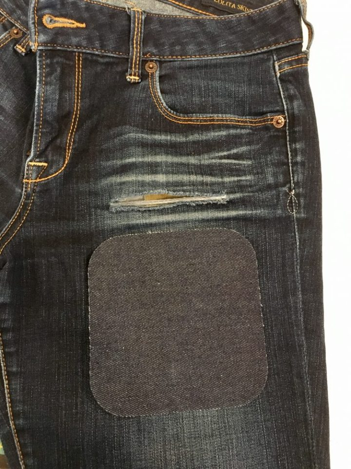 how to fix a hole in jeans22 noelle o designs. Black Bedroom Furniture Sets. Home Design Ideas