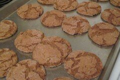 Molasses Cookies Out Of Oven
