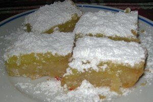 Lemon Bars On Brown Butter Shortbread
