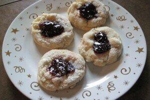 White Chocolate Thimble Cookies