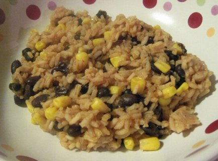 Beans and Corn With Taco Rice