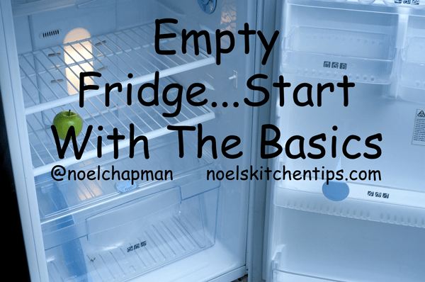 Empty Fridge…Stock Up With The Basics!