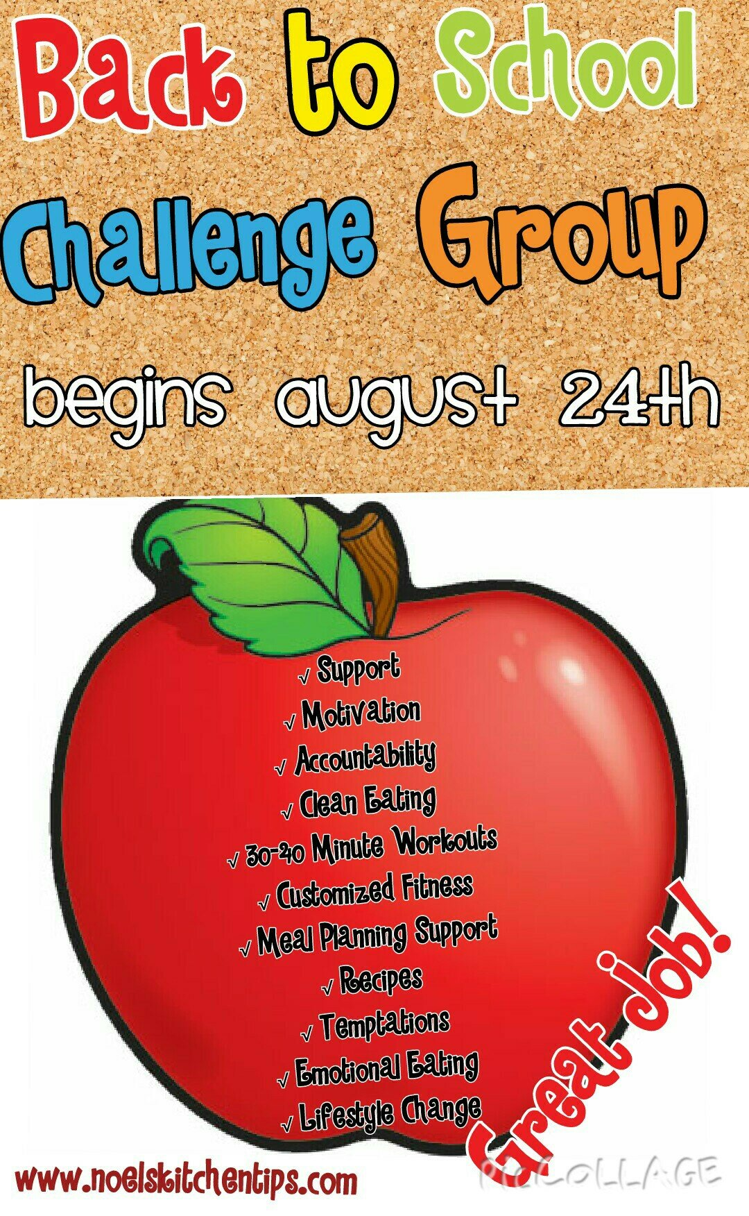Back To School Challenge Group!