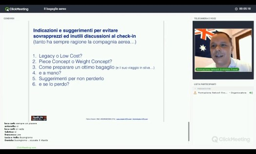 Il bagaglio dalla A alla Z, spiegato in webinar da un esperto