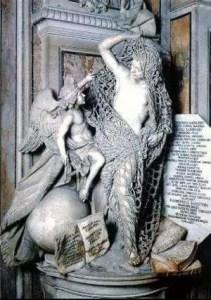 Il Disinganno, ultima statua a destra all'interno della Cappella