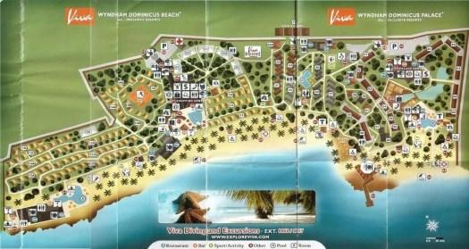 cartina del miglior resort di Bayahibe, il Viva Wyndham Dominicus