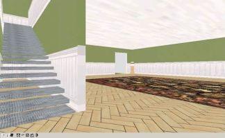 Le scale che portano al 1° piano
