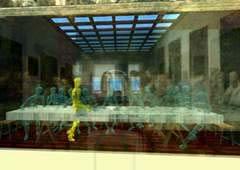 Esempio di arte virtuale. Franz Fischnaller, L'Ultima Cena Interattiva