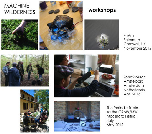 Figure 3 workshops as part of Machine Wilderness platform