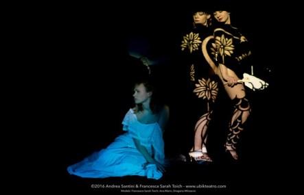 Ubik teatro, Cindarella, Bodymapped projections - Clothes of Light (Photo series) - ©2016