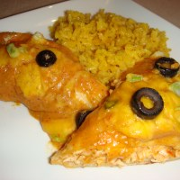 Shredded Chicken & Cheese Enchiladas