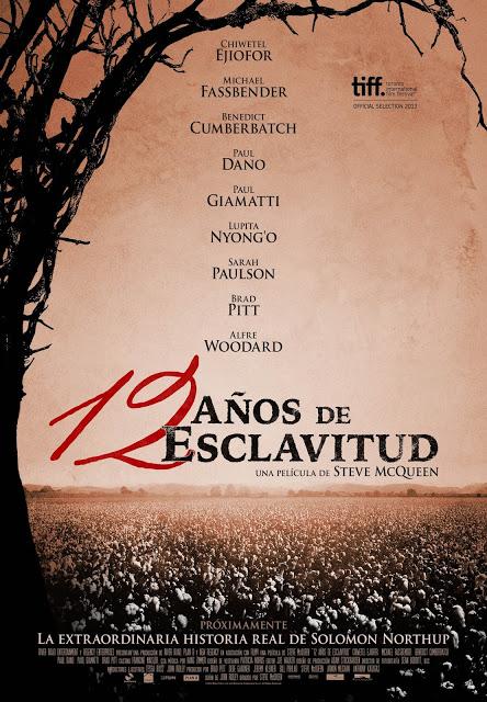 Tráiler y teaser póster de '12 años de esclavitud', con Brad Pitt y Michael Fassbender