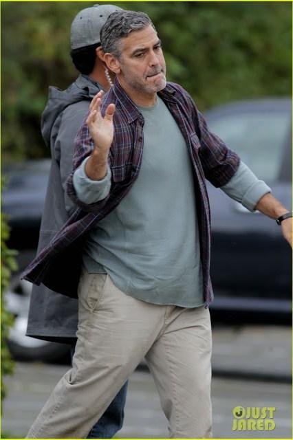 Primeras fotos de George Clooney en el rodaje de 'Tomorrowland'