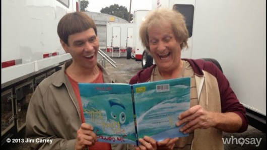 Imágenes de Jim Carrey y Jeff Daniels caracterizados para 'Dumb and dumber to'