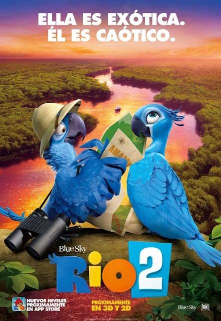 Tráiler español y teaser pósters de 'Rio 2'