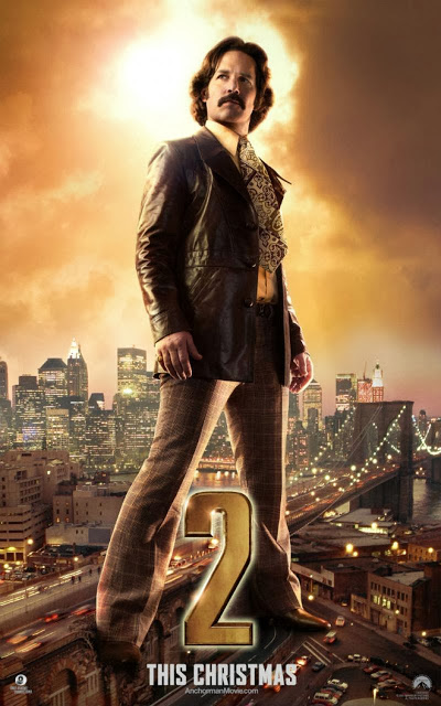 "Cuatro ""gigantescos"" pósters individuales para los protagonistas de 'Anchorman 2: The legend continues'"