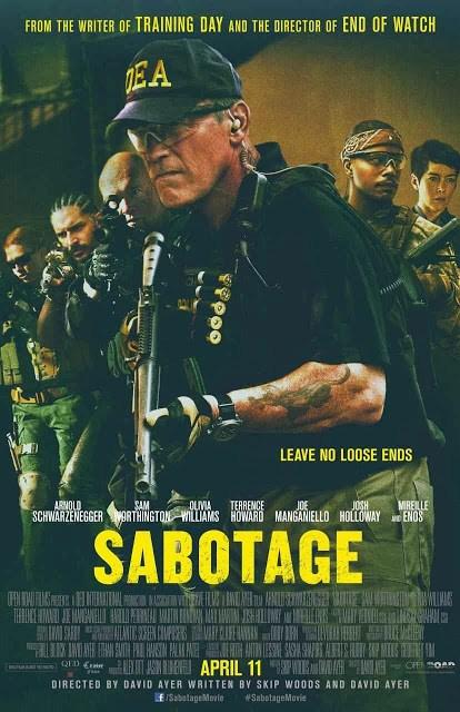 Póster de 'Sabotage', con Arnold Schwarzenegger al frente de la acción