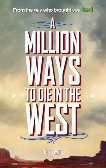 Primeros pósters de la película de Seth MacFarlane 'A million ways to die in the west'