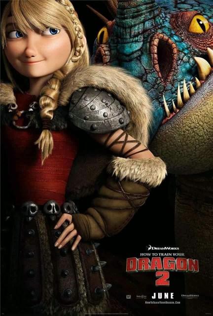 Nuevo póster de 'Cómo entrenar a tu dragón 2' centrado en Astrid