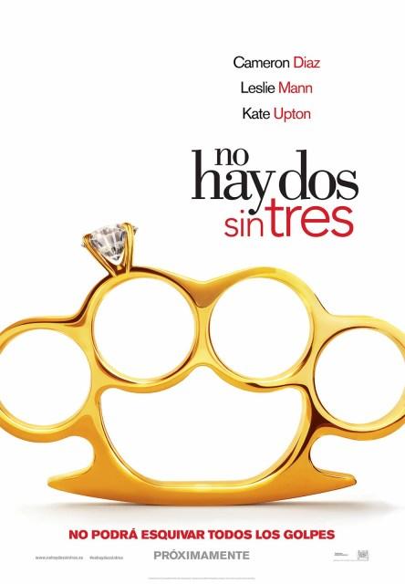 Póster y tráiler español de 'No hay dos sin tres', con Cameron Diaz, Leslie Mann y Kate Upton