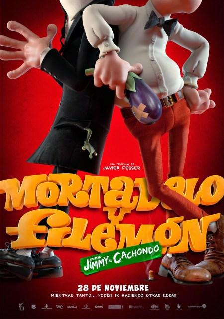Primer póster de 'Mortadelo y Filemón contra Jimmy el cachondo' de Javier Fesser