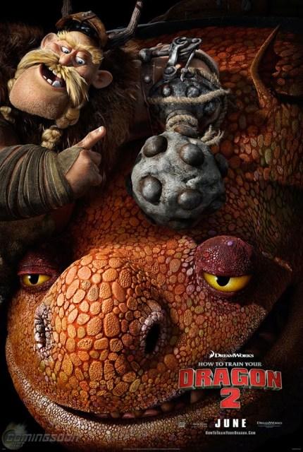 Póster de 'Cómo entrenar a tu dragón 2' dedicado a Gobber y Grump