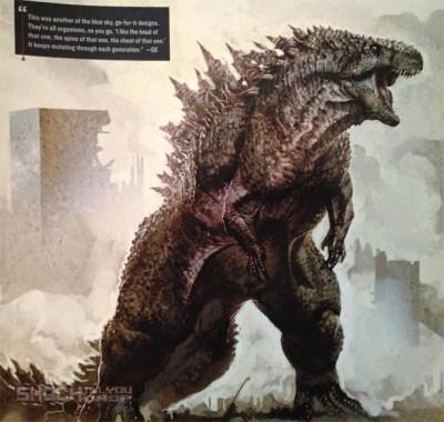 Diseños de arte conceptual alternativos de 'Godzilla'