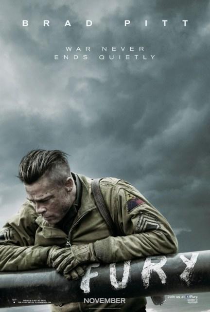 Póster de 'Fury', la nueva película de David Ayer con Brad Pitt