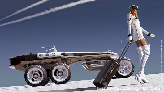 Michael Bay producirá 'Cosmic Motors', basada en unas ilustraciones de coches futuristas y bellas mujeres