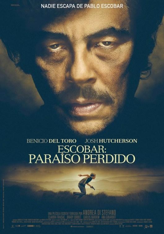 Póster y tráiler en VOSE de 'Escobar: Paraíso perdido', con Benicio del Toro